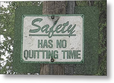Safety Limitation Metal Print