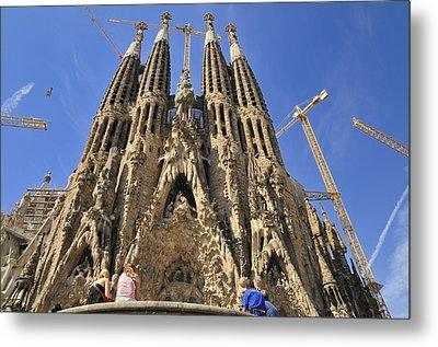 Sagrada Familia - Impressive Church From Gaudi In Barcelona Metal Print by Matthias Hauser