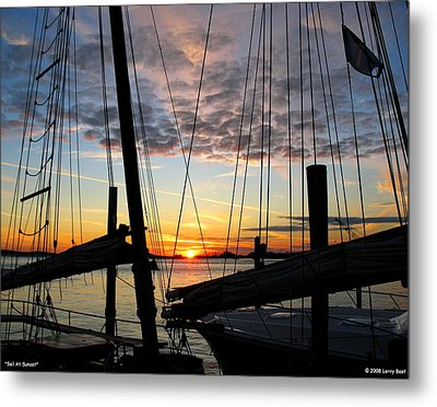 Sail At Sunset Metal Print