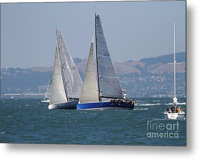 Sail Boats On The San Francisco Bay - 7d18323 Metal Print by Wingsdomain Art and Photography