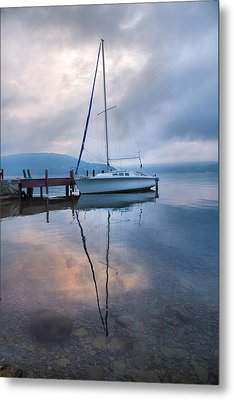 Sailboat And Lake I Metal Print by Steven Ainsworth