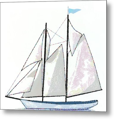 Sailboat  Metal Print by Anne Kitzman