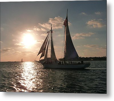 Metal Print featuring the photograph Sailboat At Key West by Jo Sheehan