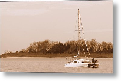 Sailboat On Chesapeake Metal Print