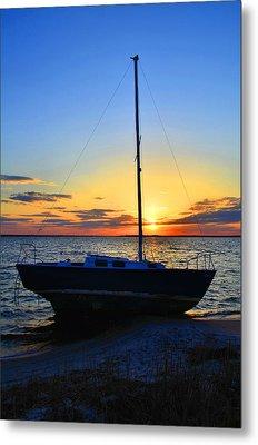 Sailboats And Sunsets Metal Print
