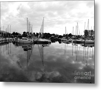 Sailboats At Bluffers Marina Toronto Metal Print