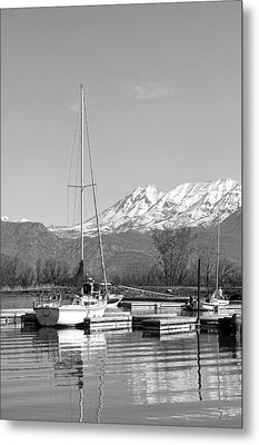 Sailboats At Utah Lake State Park Metal Print by Tracie Kaska