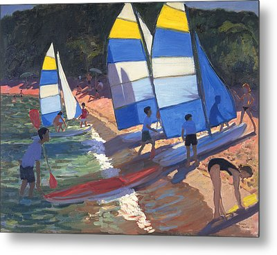 Sailboats South Of France Metal Print by Andrew Macara