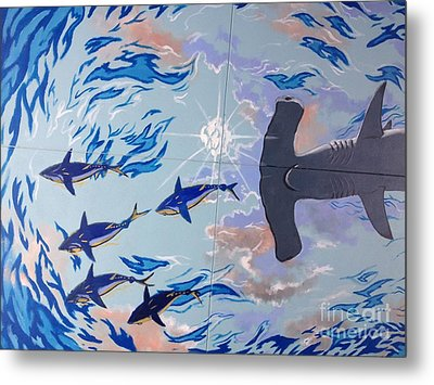 Sailfish Splash Park Mural 8 Metal Print by Carey Chen