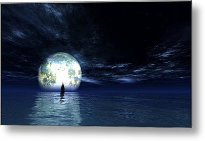 Sailing At Night... Metal Print
