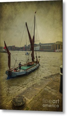 Metal Print featuring the photograph Sailing Away... by Clare Bambers