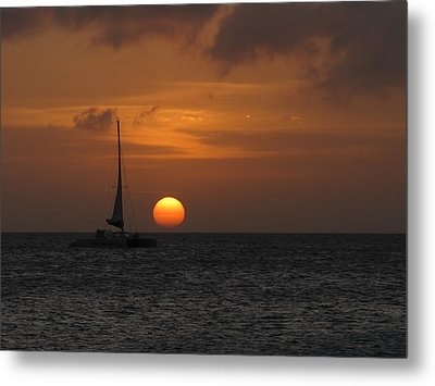 Metal Print featuring the photograph Sailing Away by David Gleeson
