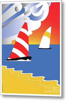 Sailing Before The Wind Metal Print
