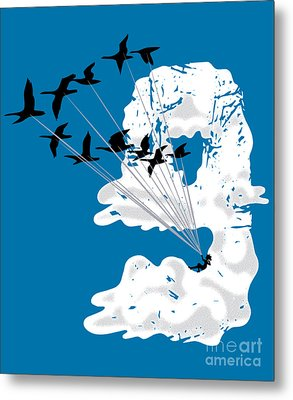 Sailing Cloud Nine Metal Print