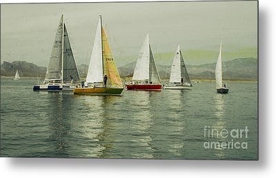Metal Print featuring the photograph Sailing Day Regatta by Julie Lueders