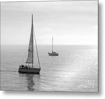 Sailing In Calm Waters Metal Print by Artist and Photographer Laura Wrede