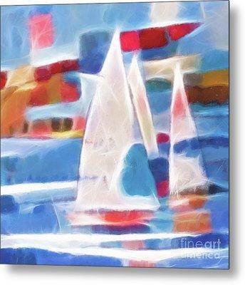 Sailing Joy Digital Metal Print by Lutz Baar