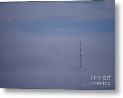 Sailing Mysterious Lake Superior Metal Print by Kate Purdy