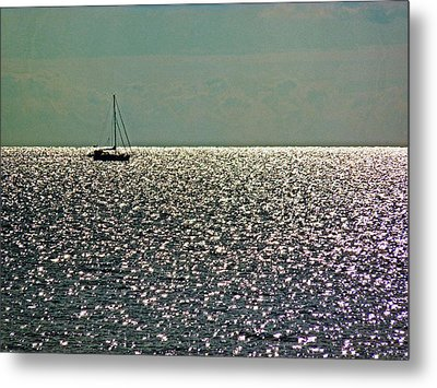 Metal Print featuring the photograph Sailing On A Sea Of Diamonds by William Fields
