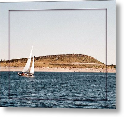 Metal Print featuring the photograph Sailing On Carter Lake by David Pantuso
