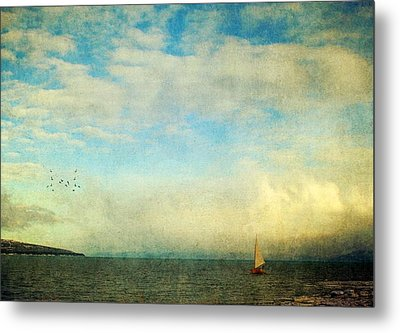 Metal Print featuring the photograph Sailing On The Sea by Michele Cornelius