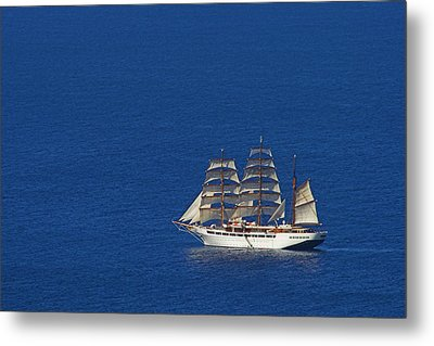 Metal Print featuring the photograph Sailing Ship- St Lucia by Chester Williams