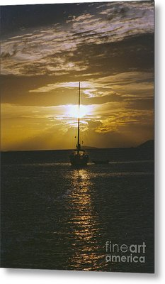 Sailing Sunset Metal Print by William Norton