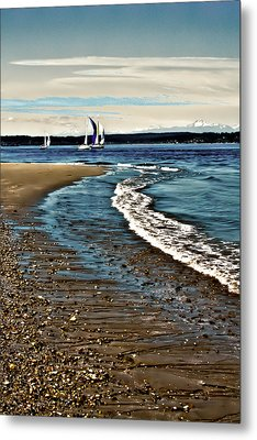 Sailing The Puget Sound Metal Print by David Patterson