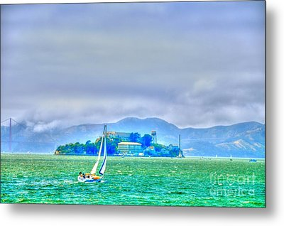 Sailing To Alcatraz Metal Print