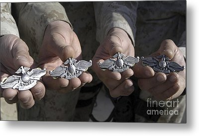 Sailors Display Their Fleet Marine Metal Print by Stocktrek Images