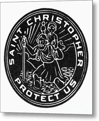 Saint Christopher Medal Metal Print by Granger