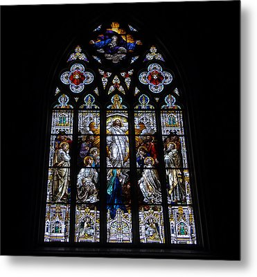 Saint Johns Stained Glass Metal Print by David Lee Thompson