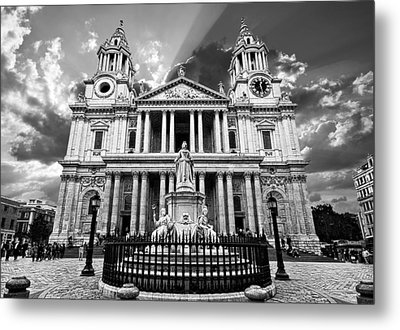 Saint Paul's Cathedral Metal Print by Meirion Matthias