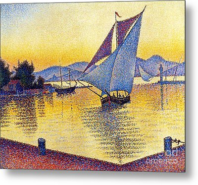 Saint Tropez At Sunset Metal Print by Pg Reproductions