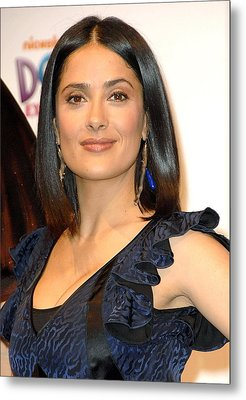 Salma Hayek At A Public Appearance Metal Print by Everett