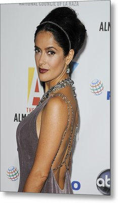 Salma Hayek At Arrivals For The Nclr Metal Print by Everett