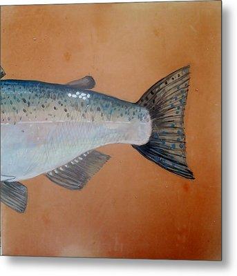 Salmon 2 Metal Print by Andrew Drozdowicz