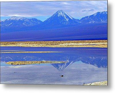 Salt Lake At The Atacama Desert Chile Metal Print