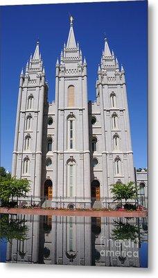 Salt Lake Mormon Temple Metal Print by Gary Whitton