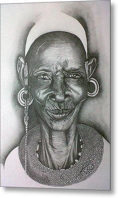 Samburu Tribe I. Metal Print by Paula Steffensen