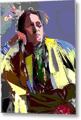 Metal Print featuring the mixed media Samuel American Horse by Charles Shoup