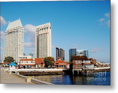 Metal Print featuring the photograph San Diego - Seaport Village by Jasna Gopic