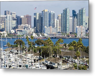 San Diego Cityscape Metal Print by MaryJane Armstrong