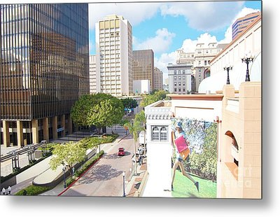 Metal Print featuring the photograph San Diego Downtown by Jasna Gopic