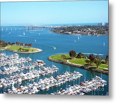 San Diego Marina And Bay Metal Print