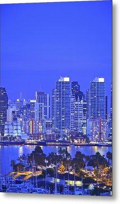 San Diego Skyline And Harbour Island Metal Print by Stuart Westmorland