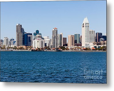 San Diego Skyline Buildings Metal Print by Paul Velgos