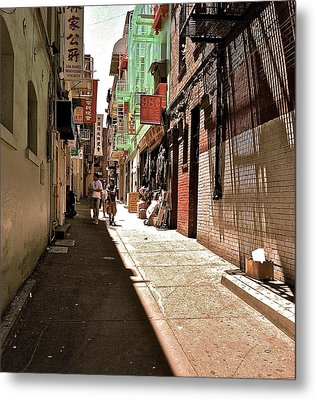 San Fran Chinatown Alley Metal Print by Bill Owen