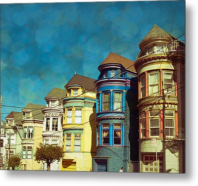 San Fran Row Houses Metal Print by Sonja Quintero