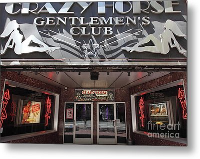 San Francisco - Crazy Horse Gentlemen's Club On Market Street - 5d17977 Metal Print by Wingsdomain Art and Photography